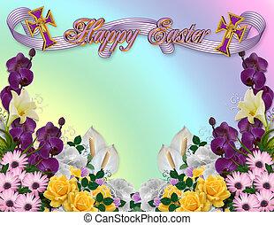 復活節, 花卉疆界