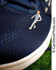 微型, 玩具, 鞋子, 圖, 跑, 運動, 人