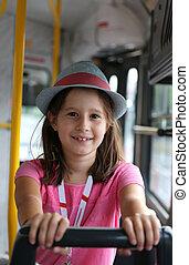 微笑, 帽子, 小女孩
