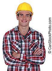 微笑, 建設工人