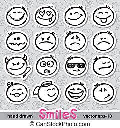 微笑, 集合