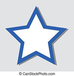 徽章, 慶祝, -, 星, 圖象