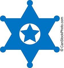 徽章, 矢量, 星, 郡長, 圖象