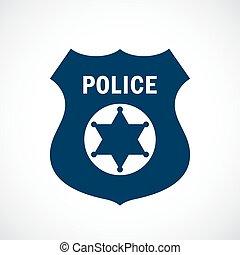 徽章, 矢量, 警察, 圖象
