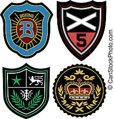 徽章, 集合, 象征, 警察