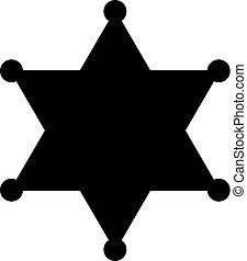 徽章, 黑色半面畫像, 矢量, 郡長