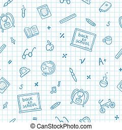 心不在焉地亂寫亂畫, 學校, 紙, 筆記本, 圖案