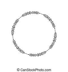 心不在焉地亂寫亂畫, 花冠, 家, 問候, 矢量, 設計, border., style., 邀請, 草, 卡片。, 最簡單派藝術家, 標識語, 框架, 末梢, 離開, 刀片, 圖象, 輪, 雅致, 裝飾, 元素, 簡單