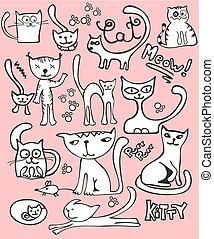 心不在焉地亂寫亂畫, 集合, 貓