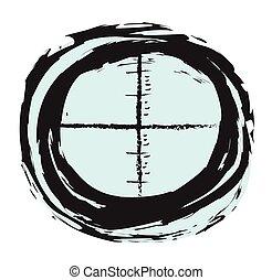 心不在焉地亂寫亂畫, 黑色, 目標, 發現者, 狙擊手