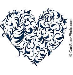 心, 你, 植物群的設計, 裝飾品, 形狀