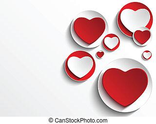 心, 按鈕, 白色, 天, 情人節