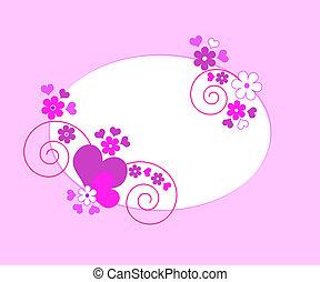 心, 框架, 花