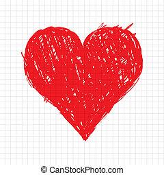 心, 略述, 形狀, 設計, 你, 紅色