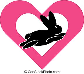 心, 符號, 兔子