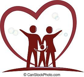 心, 符號, 愛, 家庭, 標識語