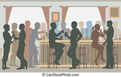 忙, 酒吧, pub