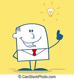 想法, 明亮, 商人