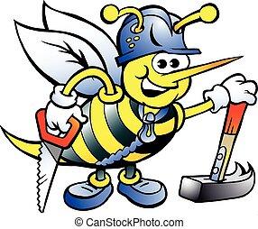 愉快, 木匠, 工作, 蜜蜂