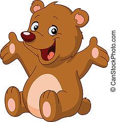 愉快, 熊, teddy