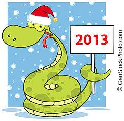 愉快, 蛇, 帽子, 聖誕老人