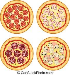 意大利語, 矢量, 比薩餅, 彙整, 圖象