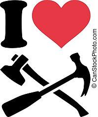 愛, 工具, 木匠