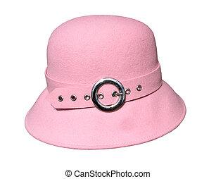 感到, 帽子, 粉紅色