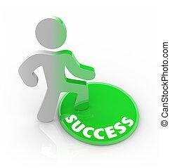 成功, 按鈕, -, 人, 步驟, 變化, 人