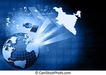成長, 印第安語, 金融, 經濟