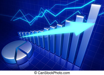 成長, 生意概念, 金融
