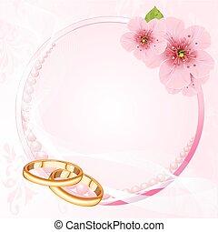 戒指, 婚禮, 花, 櫻桃, de