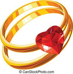 戒指, 愛