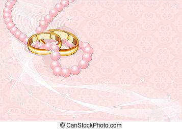 戒指, 粉紅色, 婚禮
