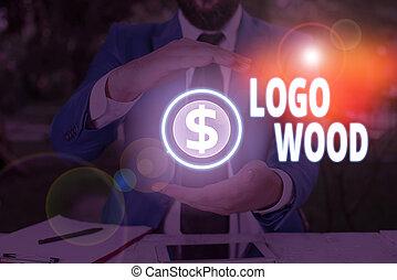 或者, 書法, 公司, wood., 概念, 正文, 寫上, 標識語, 意思, 符號, 可認識, 設計