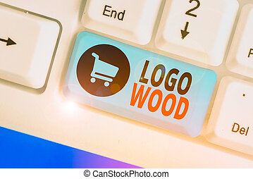 或者, 書法, 符號, 標識語, 寫上, 正文, wood., 意思, 公司, 可認識, 概念, 設計