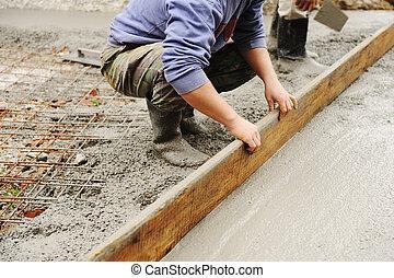 戶外, 水泥, 工作, 灰泥