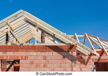 房子建造, -, 屋頂