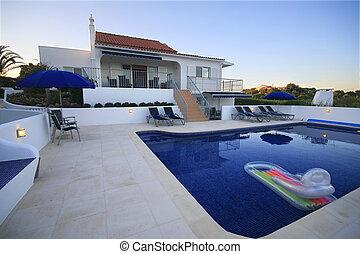 房子, 池, 游泳