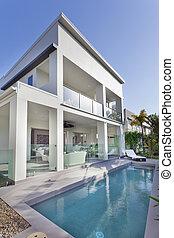 房子, 現代, 池, 游泳