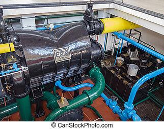 房間, 抽, 機器, 具有歷史意義, 車站, 冷凝器, 蒸汽
