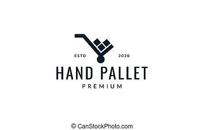手, 黑色半面畫像, 扁平工具, 矢量, 簡單, 圖象, 插圖, 標識語