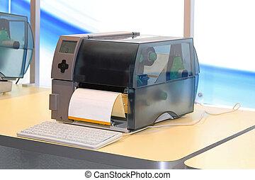 打印机, 標簽