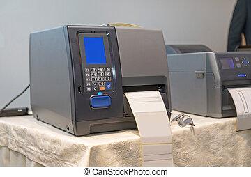 打印机, barcode, 標簽