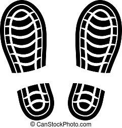 打掃, 矢量, 鞋子, 留下烙印