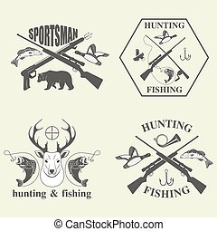 打獵, 集合, 釣魚, 葡萄酒