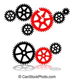打破, mechanism., 齒輪