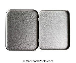 打開, 案件, 金屬, 錫