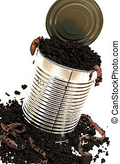 打開, 虫, 罐頭