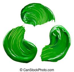 托盤, 綠色的染料